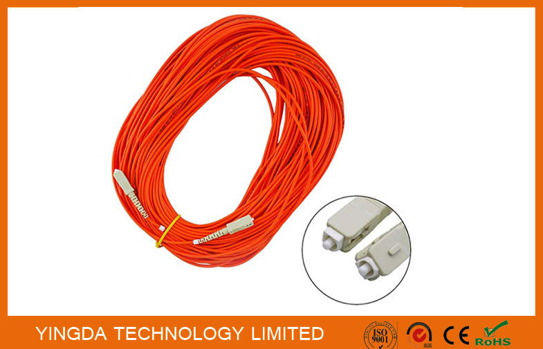 LSZH Fiber Optic Patch Cord SC - SC With Simplex Beige Housing Orange / Corning Fiber Cable ผู้ผลิต